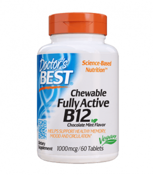 Doctor's Best Chewable Fully Active B12 - 1000 mcg/60 Tablets