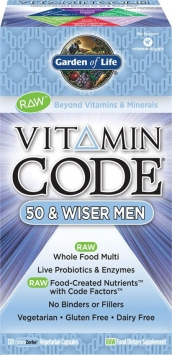 Garden Of Life Vitamin Code 50 & Wiser Men - 120 Capsules
