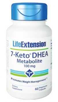 Life Extension 7-Keto® DHEA Metabolite - 100 mg (60 Capsules, Vegetarian)