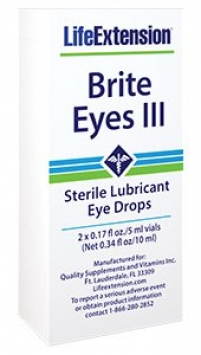Life Extension Brite Eyes III Lubricant Eye Drops, 10 ml