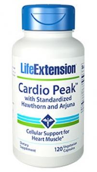 Life Extension Cardio Peak™ with Standardized Hawthorn and Arjuna (120 Vegetarian Capsules)