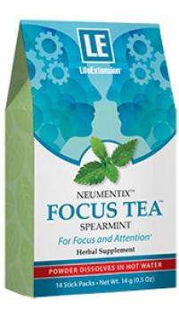Life Extension FOCUS TEA™, Spearmint, 14 stick packetss, 0.5 oz