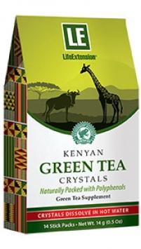 Life Extension Kenyan Green Tea Crystals, 14 stick packetss, 0.5 oz