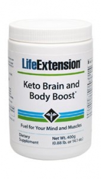Life Extension Keto Brain and Body Boost, Peach, 14.1 oz