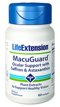 Life Extension MacuGuard® Ocular Support with Saffron & Astaxanthin (60 Softgels)