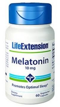 Life Extension Melatonin - 10 mg (60 Vegetarian Capsules)