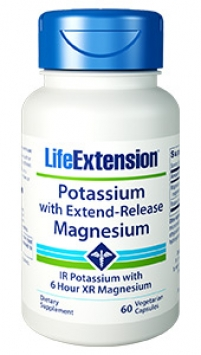 Life Extension Potassium with Extend-Release Magnesium (60 Capsules, Vegetarian)