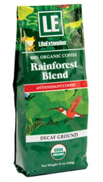 Life Extension Rainforest Blend Decaf Ground Coffee, 12 oz