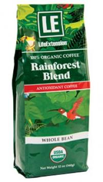 Life Extension Rainforest Blend Whole Bean Coffee, 12 oz