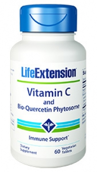 Life Extension Vitamin C and Bio-Quercetin Phytosome - 1000 mg (60 Tablets, Vegetarian)