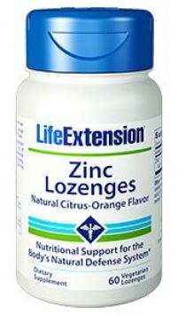 Life Extension Zinc Lozenges, Natural Citrus-Orange Flavor (60 Lozenges, Vegetarian)
