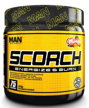 MAN Sports Scorch Powder - 75 Servings - Mango