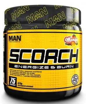 MAN Sports Scorch Powder - 75 Servings - Strawberry Kiwi