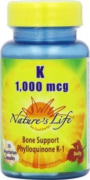 Nature's Life K - 1000 mcg/50 Capsules