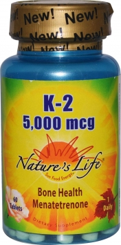 Nature's Life K-2 - 5000 mcg/60 Tablets