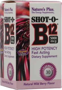 Nature's Plus Shot-O-B12 - 30 Lozenges, Wild Berry
