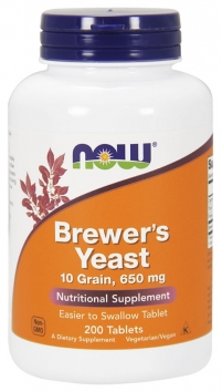 Now Brewer's Yeast 10 Grain 650 mg - 200 Tablets