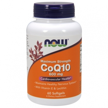 Now CoQ10 - 600mg/60 Softgels