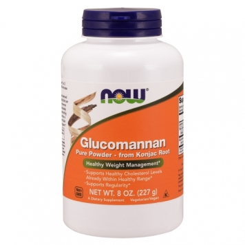 Now Glucomannan 100% Pure Powder - 8 Oz.