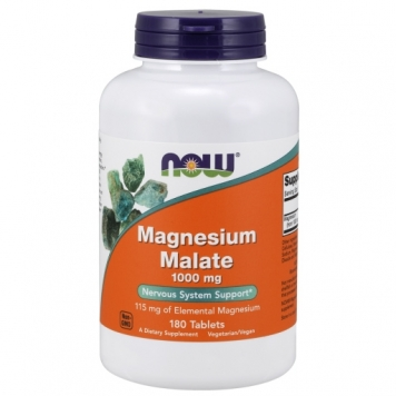 Now Magnesium Malate - 180 Tablets