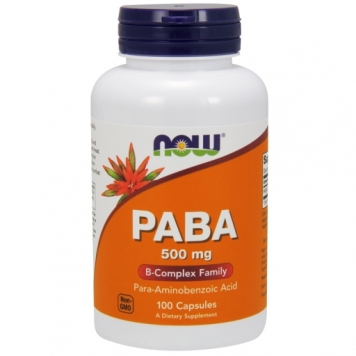 Now PABA 500mg - 100 Capsules