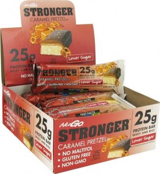 NuGo NuGo Stronger - 12 Bars, Caramel Pretzel