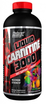 Nutrex Research Liquid Carnitine 3000 Black - 16 Oz. - Cherry Lime