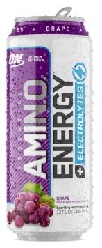 Optimum Nutrition Essential Amino Energy + Electrolytes Sparkling - 12 Cans/12 Fl. Oz. - Juicy Cherry