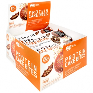 Optimum Nutrition Protein Cake Bites - 9 Pack - Chocolate Frosted Donut