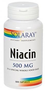 Solaray Niacin 500 mg - 100 Capsules