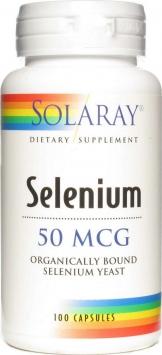 Solaray Selenium - 50mcg/100 Capsules