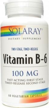 Solaray Vitamin B-6 - 100mg/60 Capsules
